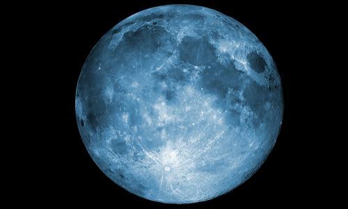 Luna piena d'acqua