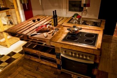 cucina con bancale