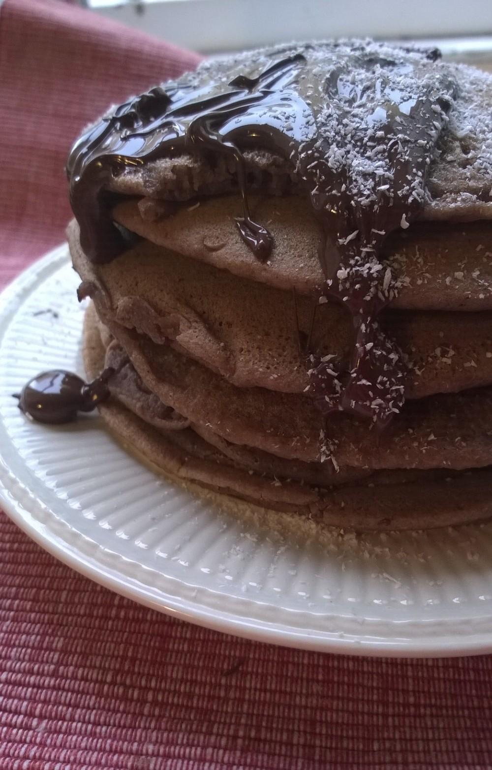 pancake vegani al cioccolato