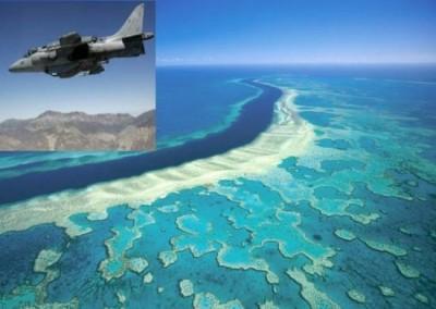 bombe usa su barriera corallina