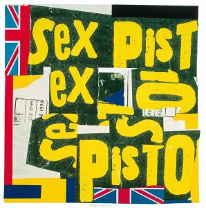 """Pablo Echaurren """"Ex-pistols"""" 1996 collage"""