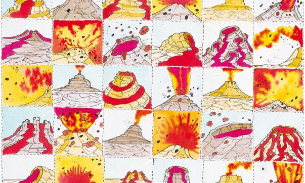 pablo-echaurren-tra-quarantatre-secondi-circa - 1975 acquerello e china su carta)