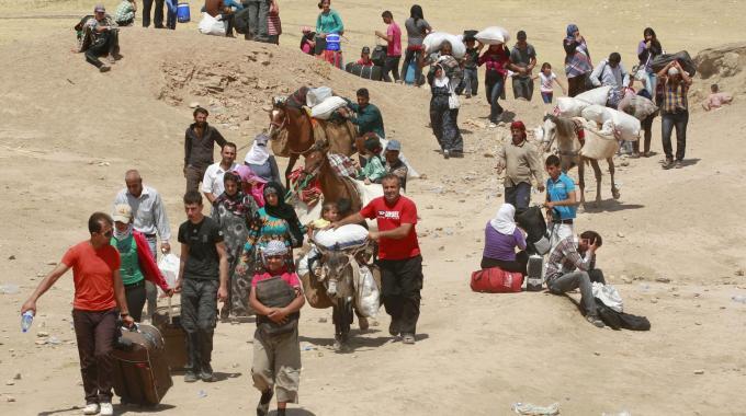siria profughi in fuga