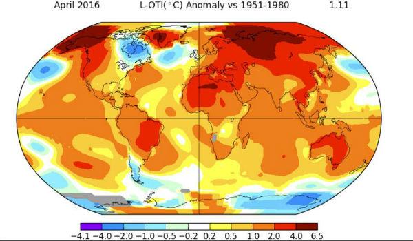 aprile nasa cambiamento climatico