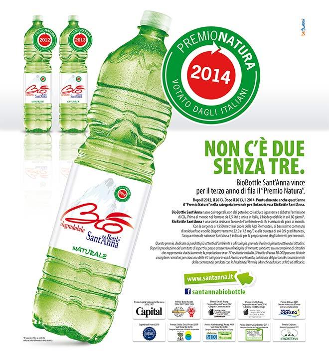 bottiglia biodegradabile