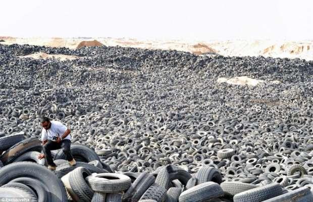 pneumatici nel deserto