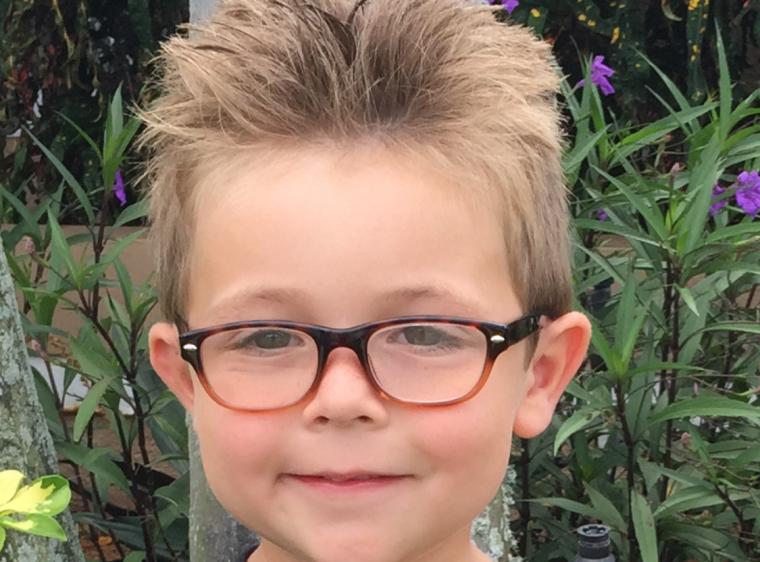 Evan, 5 anni. Viene da Melbourn Fl - foto di Peta
