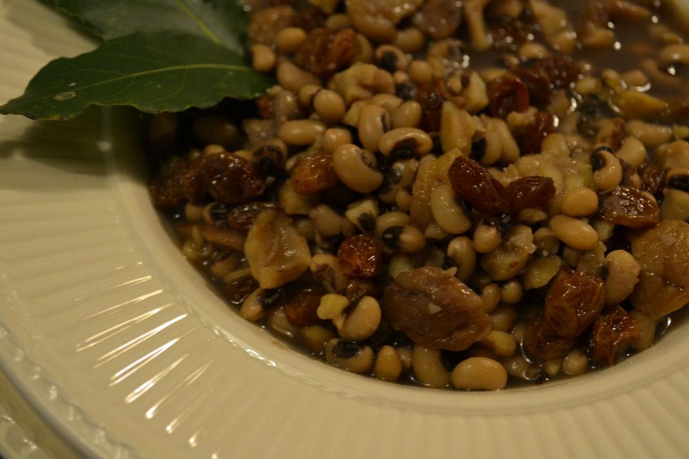 minestra di fagioli castagne e uvetta