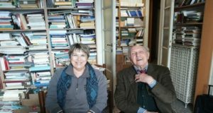 Carla Guidi con Franco Ferrarotti foto di Pietro Zocconali