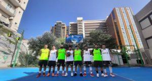 Campi da basket in gomma riciclata